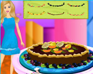 Barbie chocolate pie online játék