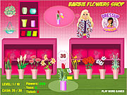 Barbie flowers shop online játék