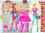 Barbie room dress up barbie játékok