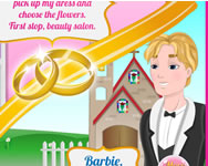 Barbie wedding rush online játék