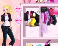 It girl dress up like Barbie barbie játékok ingyen